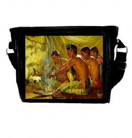 Native American Indian Warrior Shrine Themed Shoulder Bag